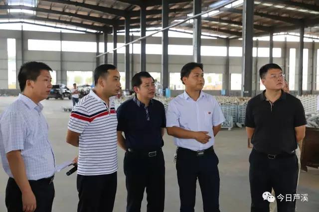 县委副书记、县长刘占纯督导重点工业项目
